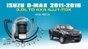 Isuzu D-MAX (2011-2016) 3.0L TD 4Cyl. 4JJ1-TCX PROV-26