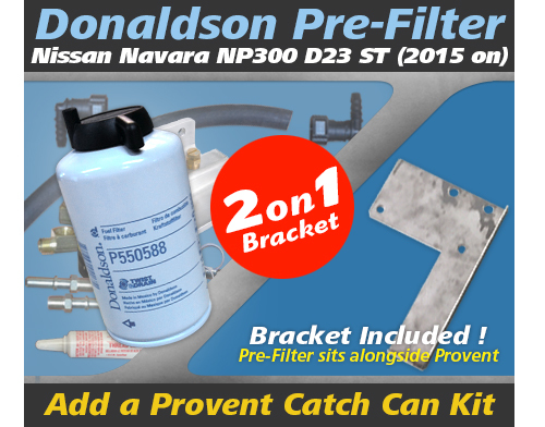 Nissan Navara 2015 on NP300 2.3L Incl. Dual Bracket Kit OS-17-FMB