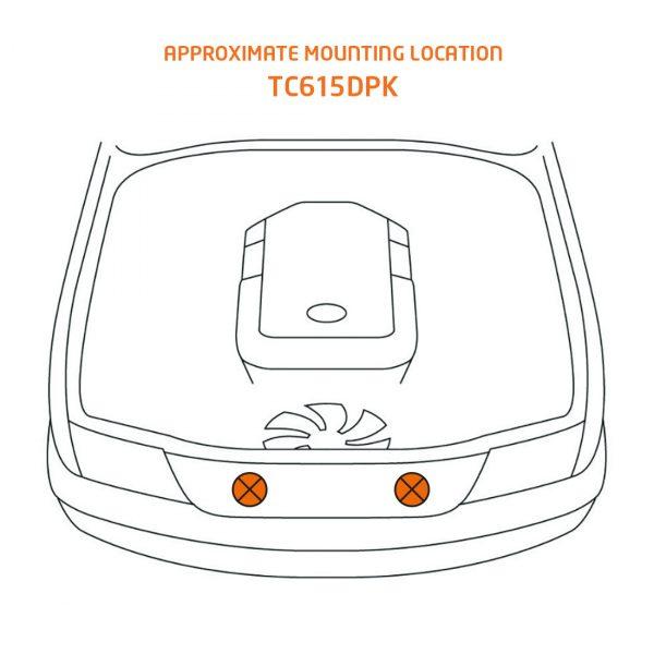 TCD615DPK mounting location